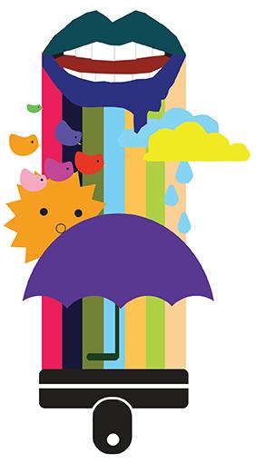 Evelyn's umbrella college artclass